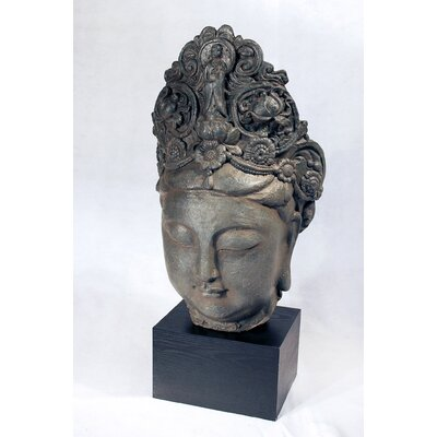 Vita V Home Female Buddah Head Statue