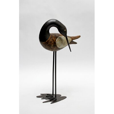 Vita V Home Shore Bird Sandpiper Statue with Head Bent