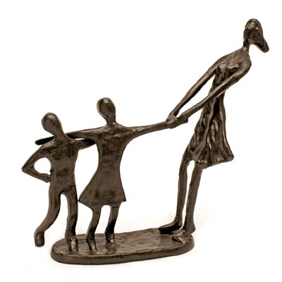 Vita V Home Mother with Boy and Girl Statue