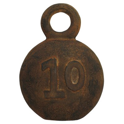 <strong>Vita V Home</strong> Decorative Fishing Weight Number 10 Sculpture