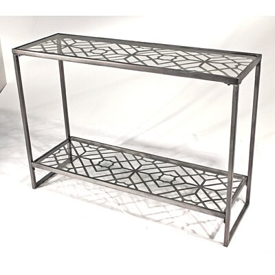 Vita V Home Metal Filigree Console Table