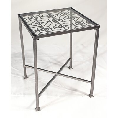 Vita V Home Metal Filigree End Table