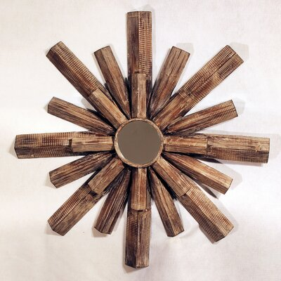 Vita V Home Starburst Wooden Wall Mirror
