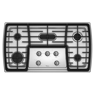 Whirlpool 36&quot; 17,000 BTU Flex Power Burner Gas Cooktop