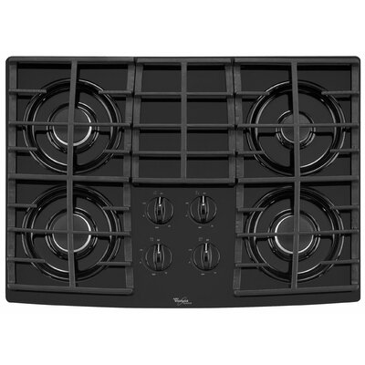 "Whirlpool 30"" Cast-Iron Grates Gas Cooktop"