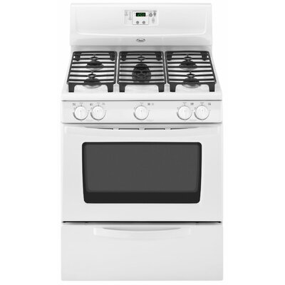 "Whirlpool Sabor 30"" Bilingual Controls Freestanding Gas Range"