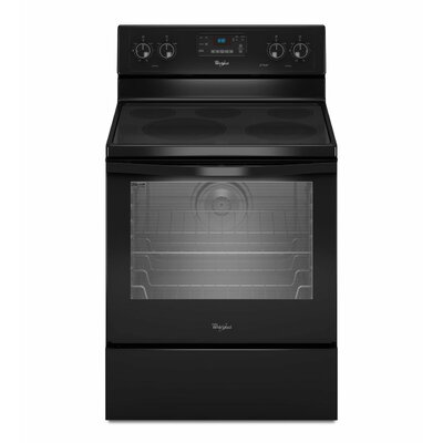 Whirlpool 6.2 cu. ft. Aqualift Self-Clean Technology Electric Range