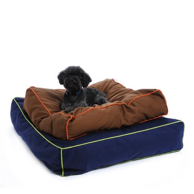 Waggo Colorblocker Square Dog Pillow