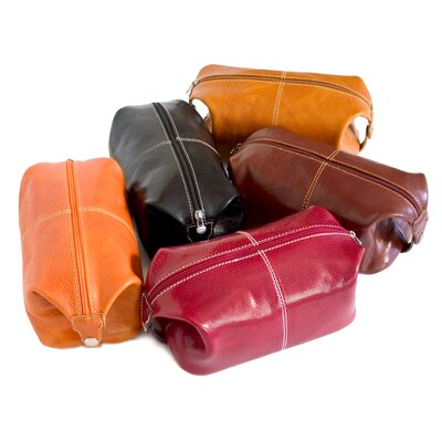 Floto Imports Venezia Leather Toiletry Bag
