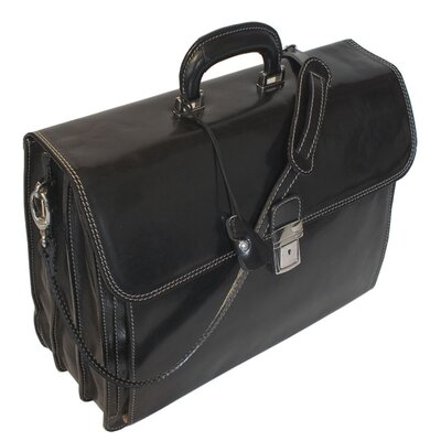 Floto Imports Firenze Briefcase in Black