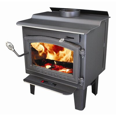 Vogelzang Defender 1,200 Square Foot Wood Stove with Blower and Ash Drawer