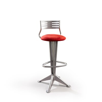 "Createch Sky 30"" Swivel Bar Stool with Cushion"