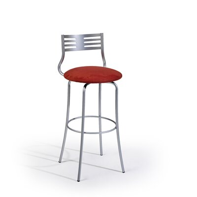 "Createch Sam 30"" Swivel Bar Stool with Cushion"