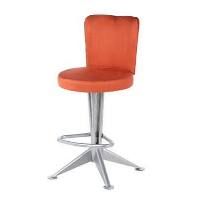 "Createch Bill 24"" Swivel Bar Stool with Cushion"