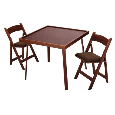 "Kestell Furniture 35"" Oak Folding Domino & Game Table"
