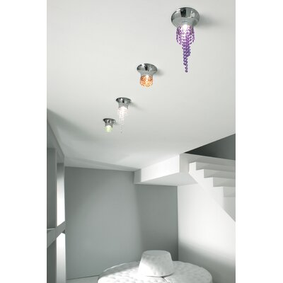 Masiero Kioccia 1 Light Small Flush Mount