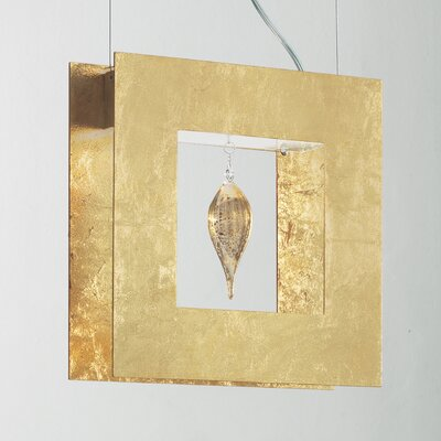Masiero Klok 1 Light 1 Glass Drop Pendant