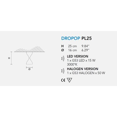 Masiero Dropop 1 Light Ceiling Fixture