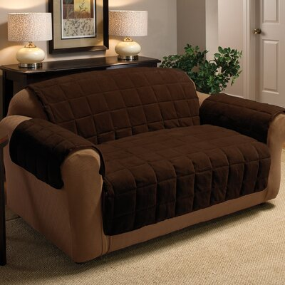 innovative textile solutions plush loveseat cover. Black Bedroom Furniture Sets. Home Design Ideas