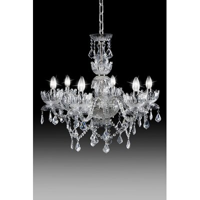 Queen Flower 6 Light Crystal Chandelier