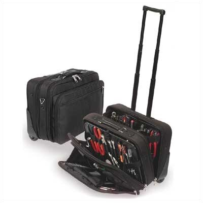 "CH Ellis W600 Black Wheeled Tool and Laptop Zipper Case: 9"" H x 18"" W x 13"" D"