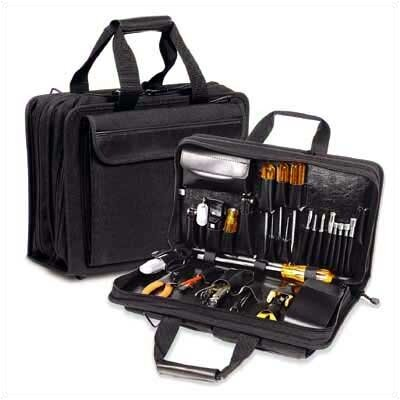 Z140 Black Double Zipper Tool Case: 5 1/2