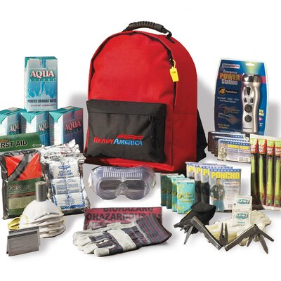 Ready America Grab N' Go Deluxe Emergency Backpack Kit, 4 Person