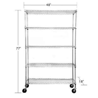 Trinity 5-Tier NSF All Weather Shelving Rack