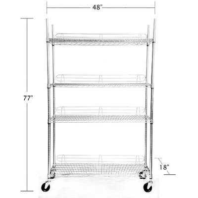 Trinity EcoStorage™ 4-Tier NSF Shelving Rack in Chrome