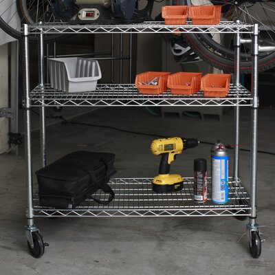 "Trinity EcoStorage™ 35.75"" 3 Tier NSF Cart"