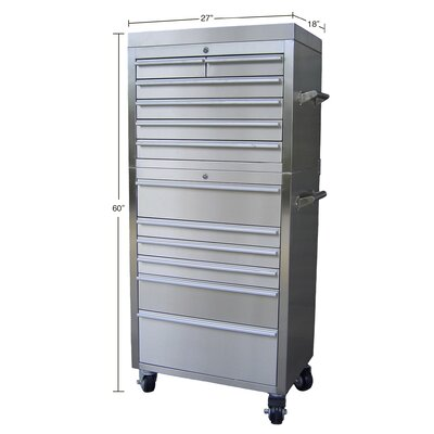 "Trinity 27"" Stainless Steel Tool Chest"