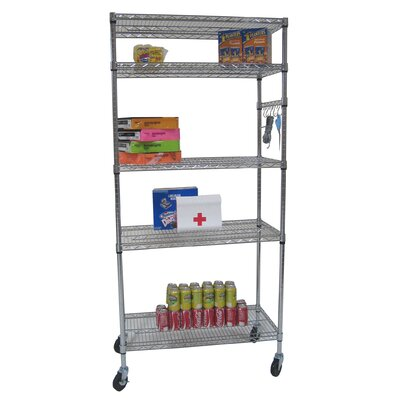 Trinity Five Tier NSF Shelving Rack in Chrome