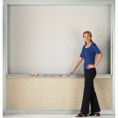 AARCO Floor Mounted Markerboard with Full Vertical Movement
