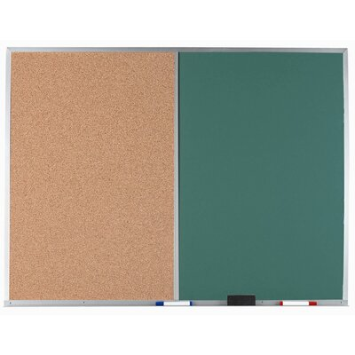 AARCO Combination Bulletin Board and Chalk Board