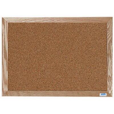 AARCO Natural Pebble Grain Cork Bulletin Board