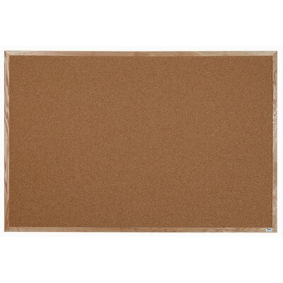 AARCO Natural Pebble Grain Cork Bulletin Board
