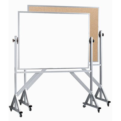 AARCO Reversible Free Standing Combination Board with Marker Board and Bulletin Board