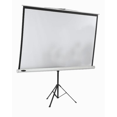 AARCO Tripod Floor Standing Manual Projection Screen in Matte White