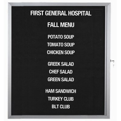 AARCO Enclosed Directory Board in Black
