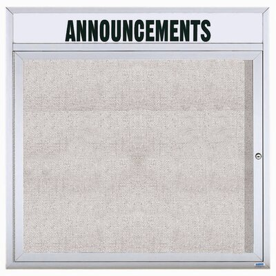 AARCO Illuminated Outdoor Enclosed Bulletin Board