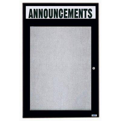 AARCO Illuminated Outdoor Enclosed Bulletin Board