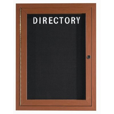 AARCO Outdoor Enclosed Aluminum Directory with Wood Look Finish