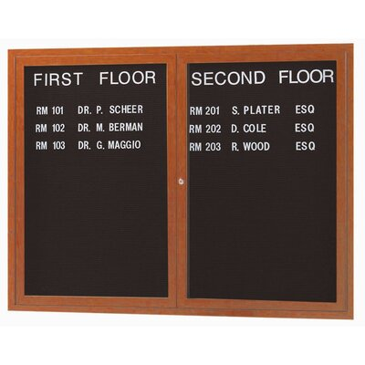 AARCO Enclosed Aluminum Directory with Wood Look Finish