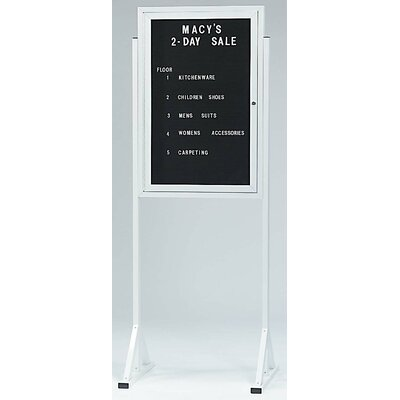 AARCO Free Standing Letter Board