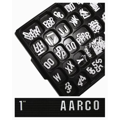 AARCO Universal Single Tab Gothic Typeface Changeable Letters (165 characters per set)