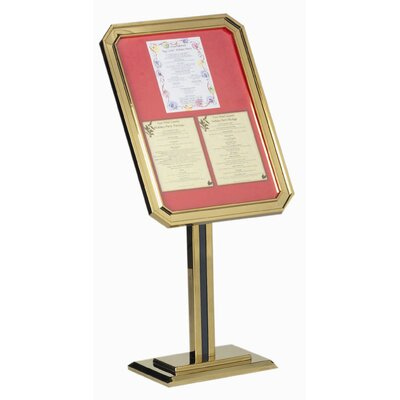 AARCO Single Pedestal Ornamental Sign and Poster Stand