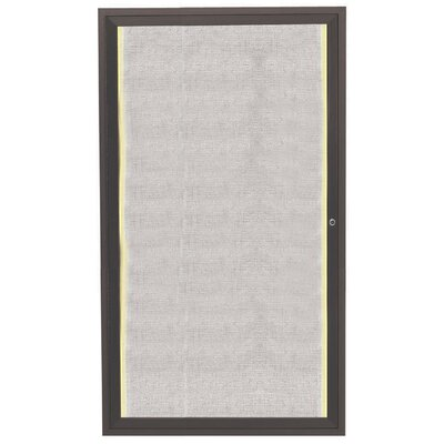 AARCO Aluminum Framed Enclosed Bulletin Board