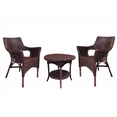 Fox Hill Trading Rattan Living 3 Piece Seating Group
