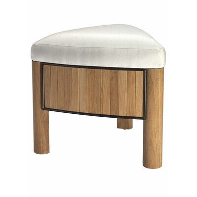Selamat Bronzewood Fabric Low Stool