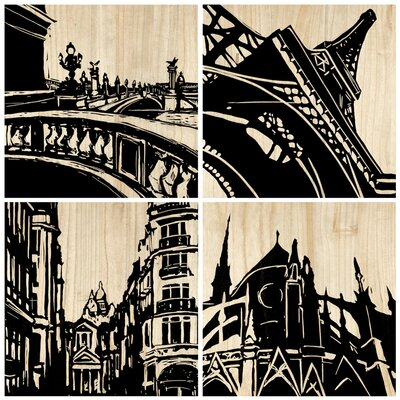 Selamat Paris City Panel (Set of 4)
